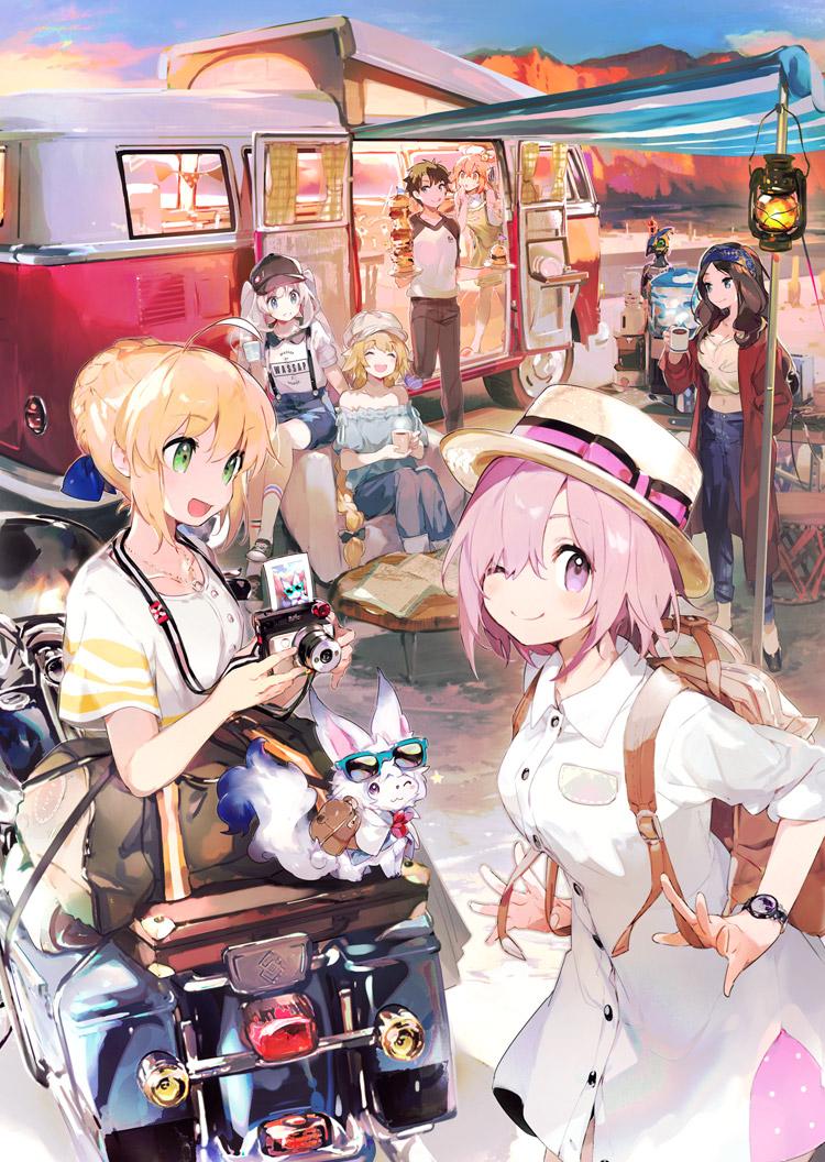 Anime Expo AX 2019 Fate Grand Order: U.S.A Saber /& Mash Tour Lanyard